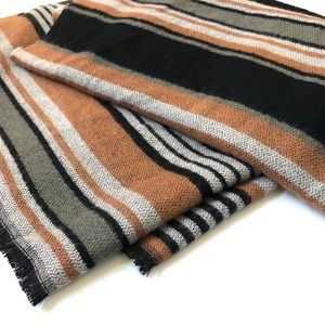 Urban Outfitters striped blanket scarf